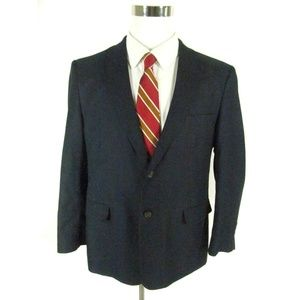 Saddlebred Men's Sports Coat Blazer 42S Dark Blue